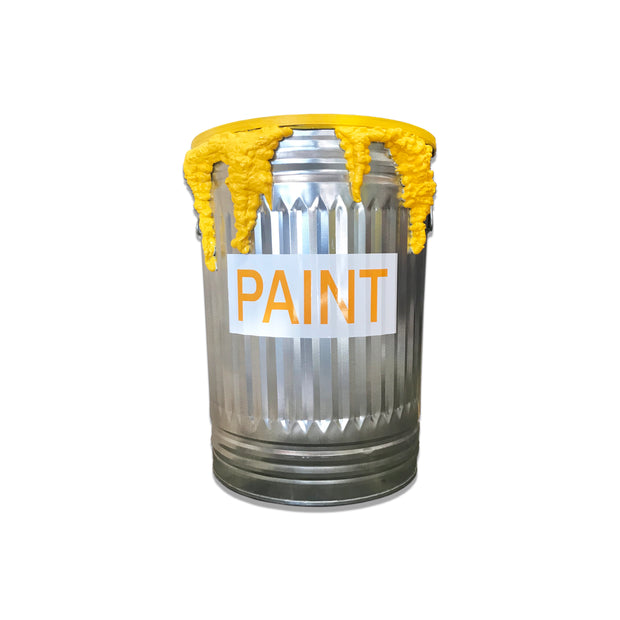 Yellow Paint Can Table
