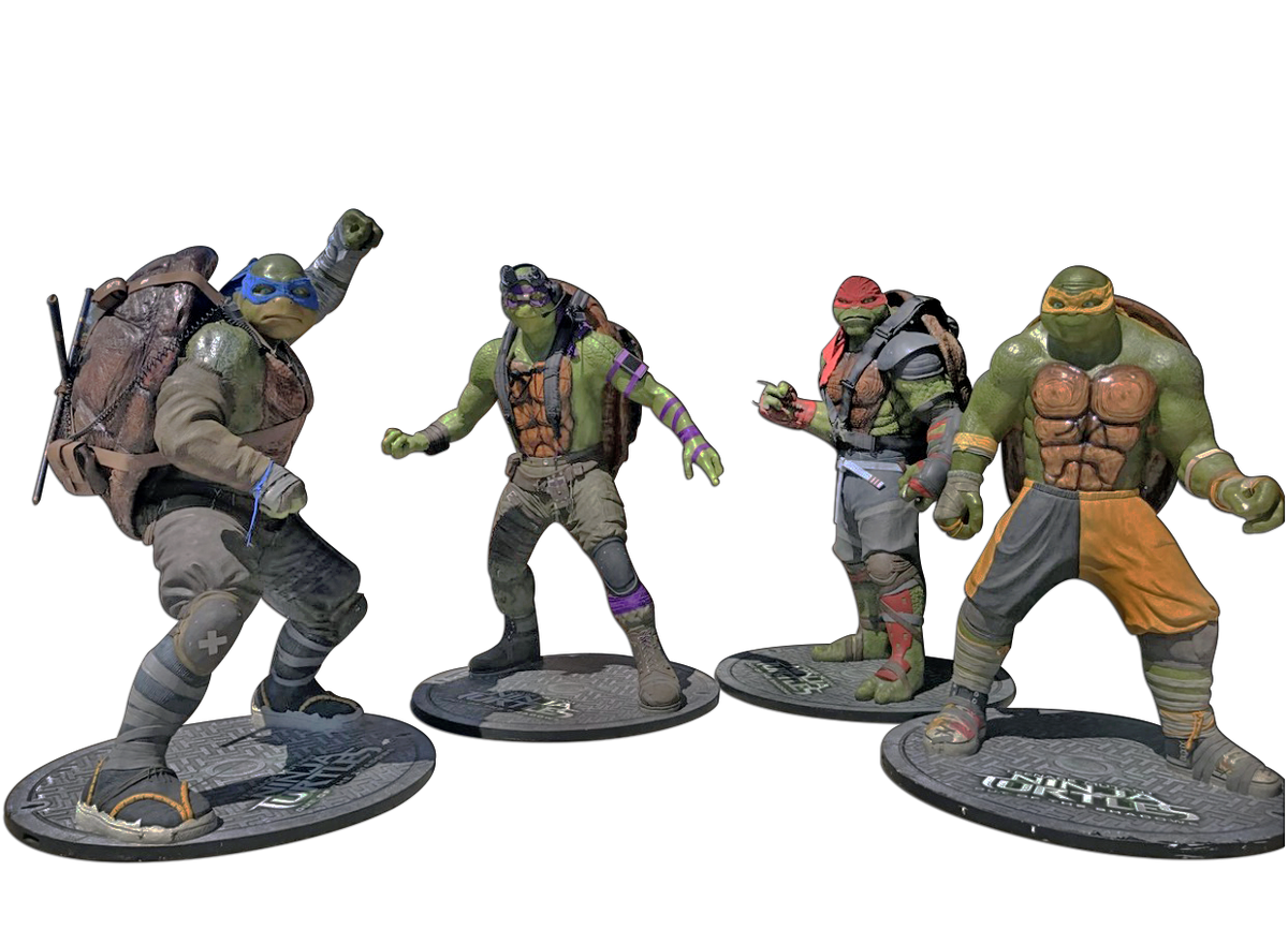 Four Teenage Mutant Ninja Turtles