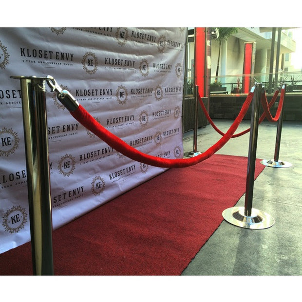 Stanchions w/ Red Ropes