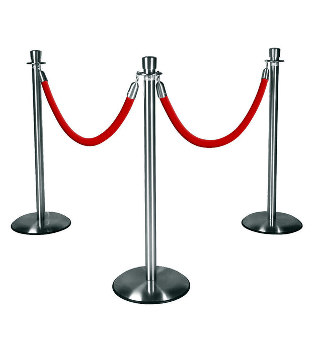 Silver Stanchions w/ Red Ropes