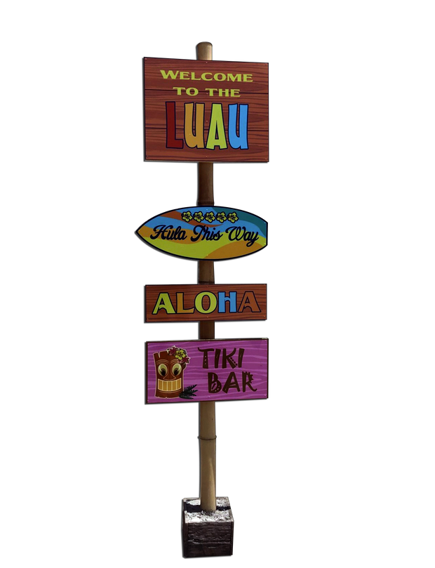 Luau Welcome Sign
