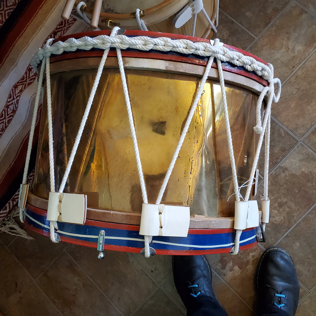 "Rope Tension Side Drum, 20"" Brass Shell"