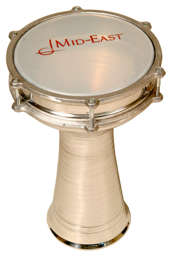 ALUMINUM DOUMBEK WITH INTERNAL JINGLES 8.5-BY-15-INCH