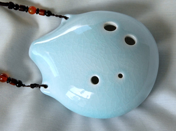 6-hole Ceramic Tenor Seedpod Ocarina in F