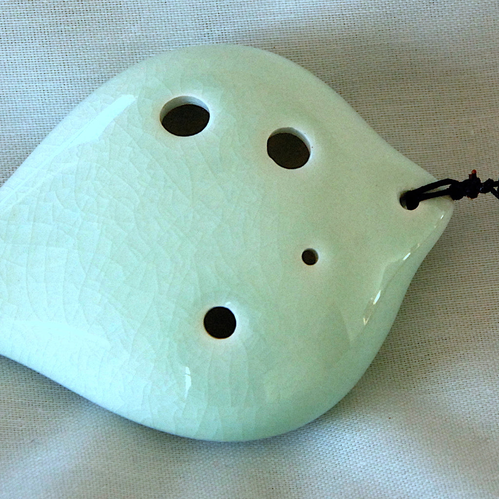 6-hole Ceramic Soprano Seedpod Ocarina in F