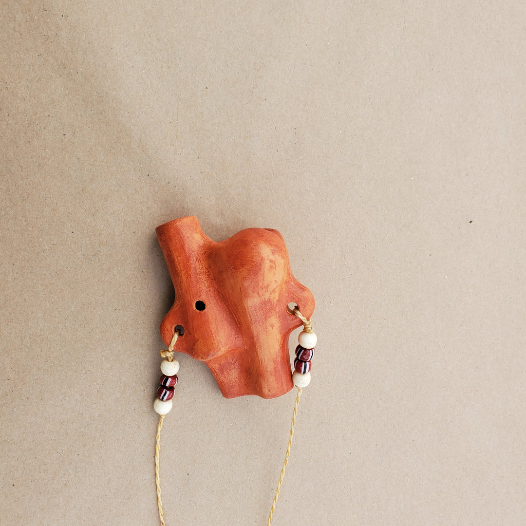 Bird / Wind Clay Whistle by Nash Tavewa