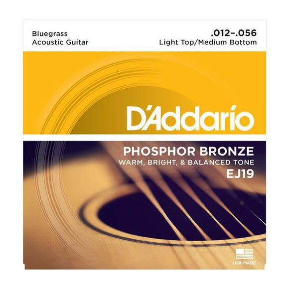 Accessories_Strings Acoustic Guitar Bluegrass Phosphor Bronze Strings D'Addario EJ19