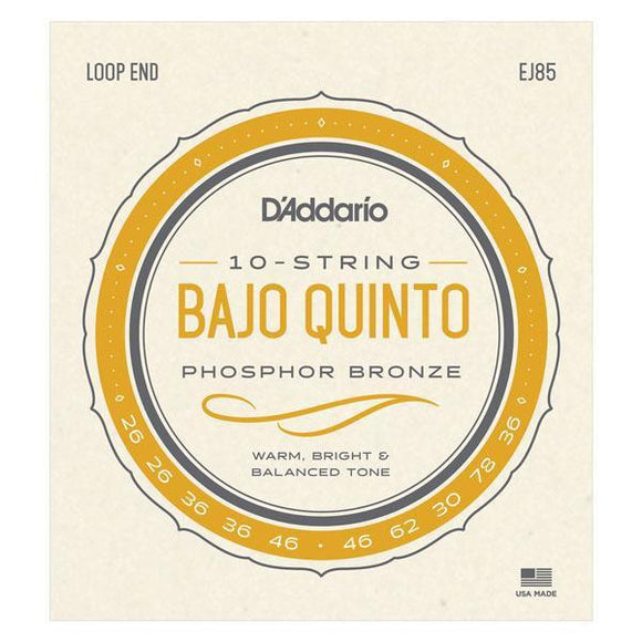 Accessories_Strings Bajo Quinto Phosphor Bronze Strings D'Addario EJ85