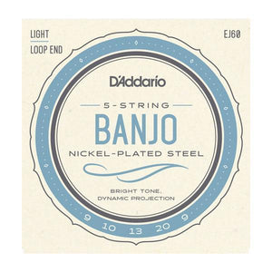 Accessories_Strings Banjo Light Nickel Wound 19-20 Strings D'Addario EJ60