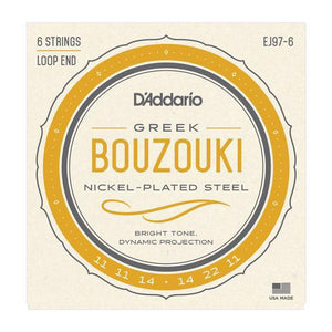 Accessories_Strings Bouzouki 6-String Nickel Strings D'Addario EJ97-6
