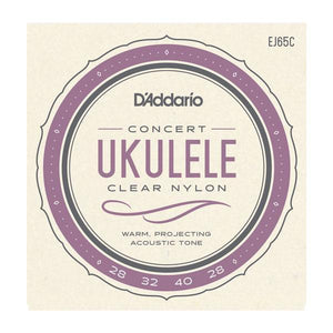 Accessories_Strings Concert Ukulele Clear Nylon Strings D'Addario EJ65C