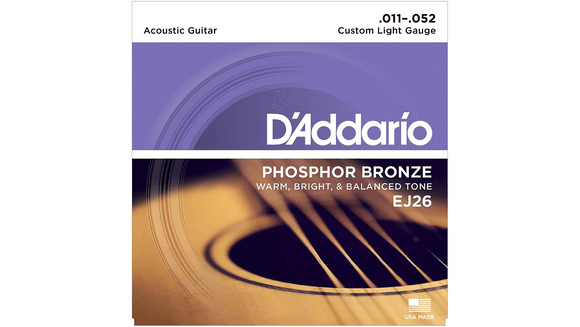 Accessories_Strings D'Addario Acoustic Guitar Custom Light Phosphor Bronze Strings EJ26