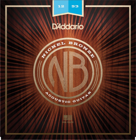 Accessories_Strings D'Addario NB1253 Nickel Bronze Acoustic Guitar Strings, Light, 12-53
