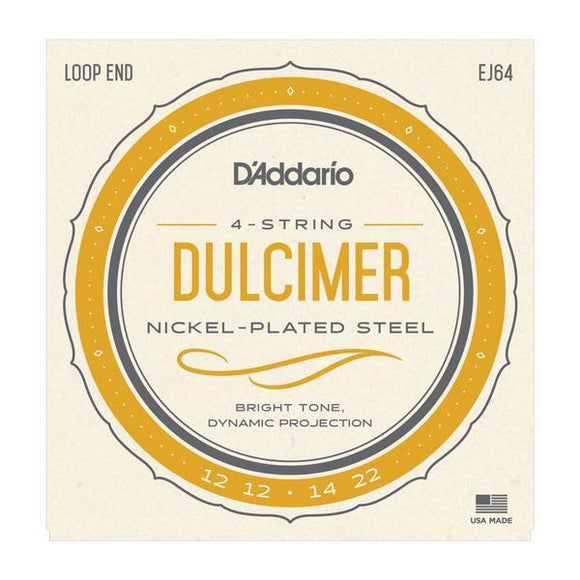 Accessories_Strings Dulcimer 4-String Light Nickel Strings D'Addario EJ64