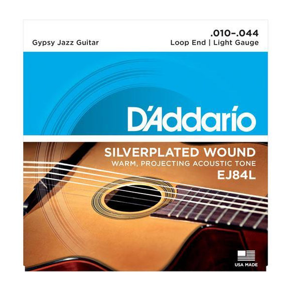 Accessories_Strings Gypsy Jazz Guitar Light Silver Loop Strings D'Addario EJ84L