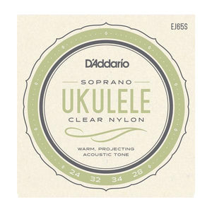 Accessories_Strings Soprano Ukulele Clear Nylon Strings D'Addario EJ65S
