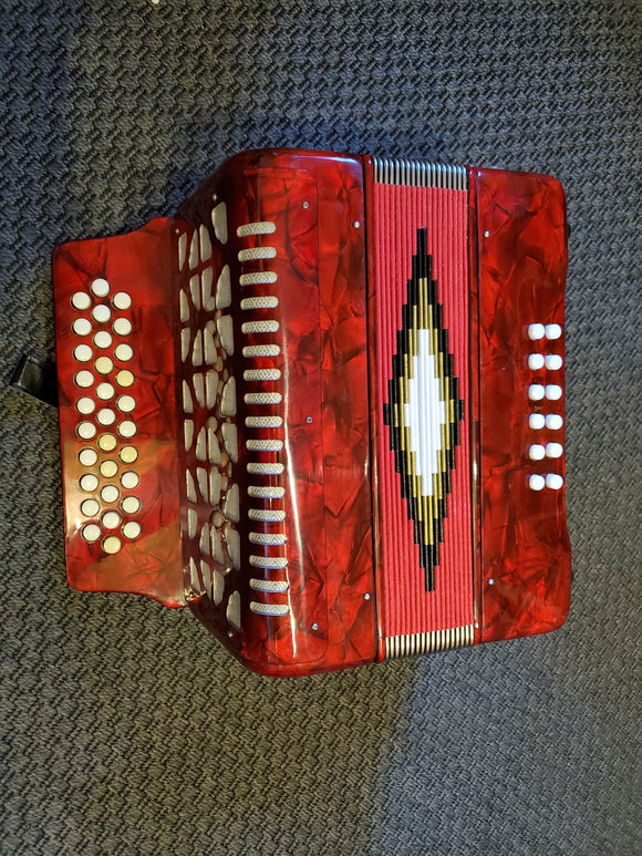 Accordions 3 Row Button Accordion G/C/F