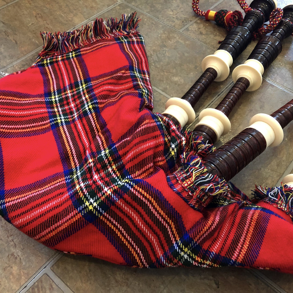 Bagpipes Highland Pipes Full Size Bagpipes Kit, Rosewood with Case, Instructions, and More