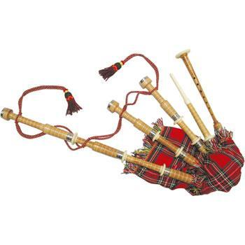 Bagpipes Highland Pipes, full size, cocuswood, engraved mounts