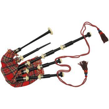 Bagpipes Highland Pipes, full size, ebony, with hardcase
