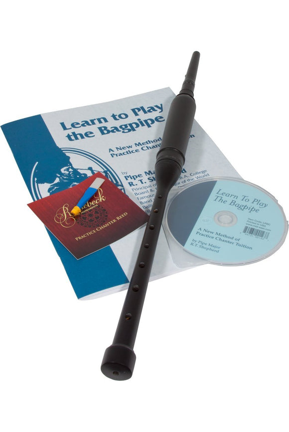 Bagpipes Roosebeck BAGLRCB Black Red Cedar Practice Chanter w/ Book and CD