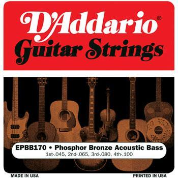 Basses Acoustic Bass Guitar String Set, Phosphor Bronze D'Addario