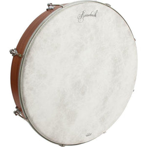 Bodhrans Roosebeck Outside Tunable Red Cedar Bodhran Cross-Bar Fiberskyn Head 18 inch x 3.5 inch