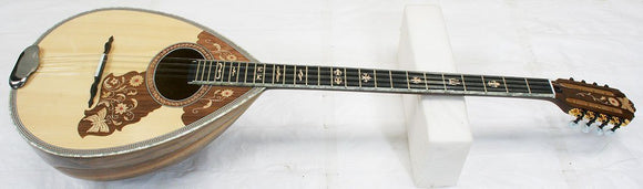 Bouzoukis 8 String Bouzouki, 60 Stave Natural Special Walnut Back (was bou011) - cosmetic. small ding on back of neck. Plays perfectly!!