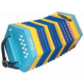 Concertinas Blue Beginner Concertina, 20 button