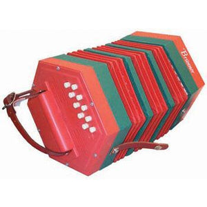 Concertinas Red Beginner Concertina, 20 button