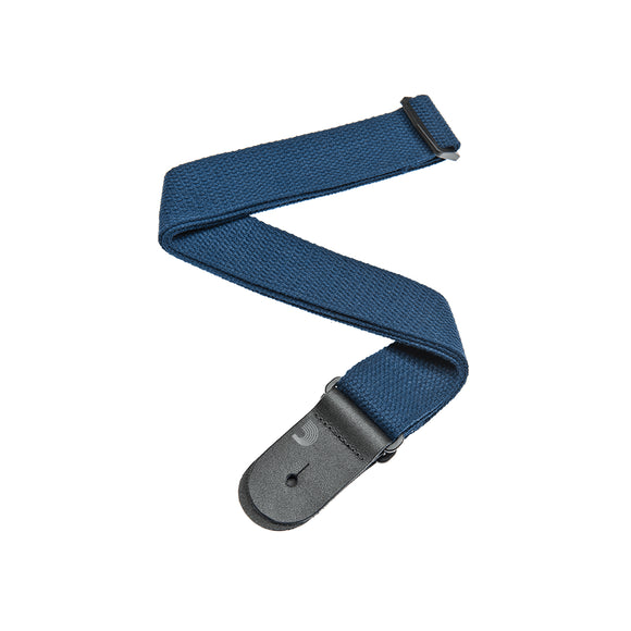 D'Addario COTTON GUITAR STRAP Blue