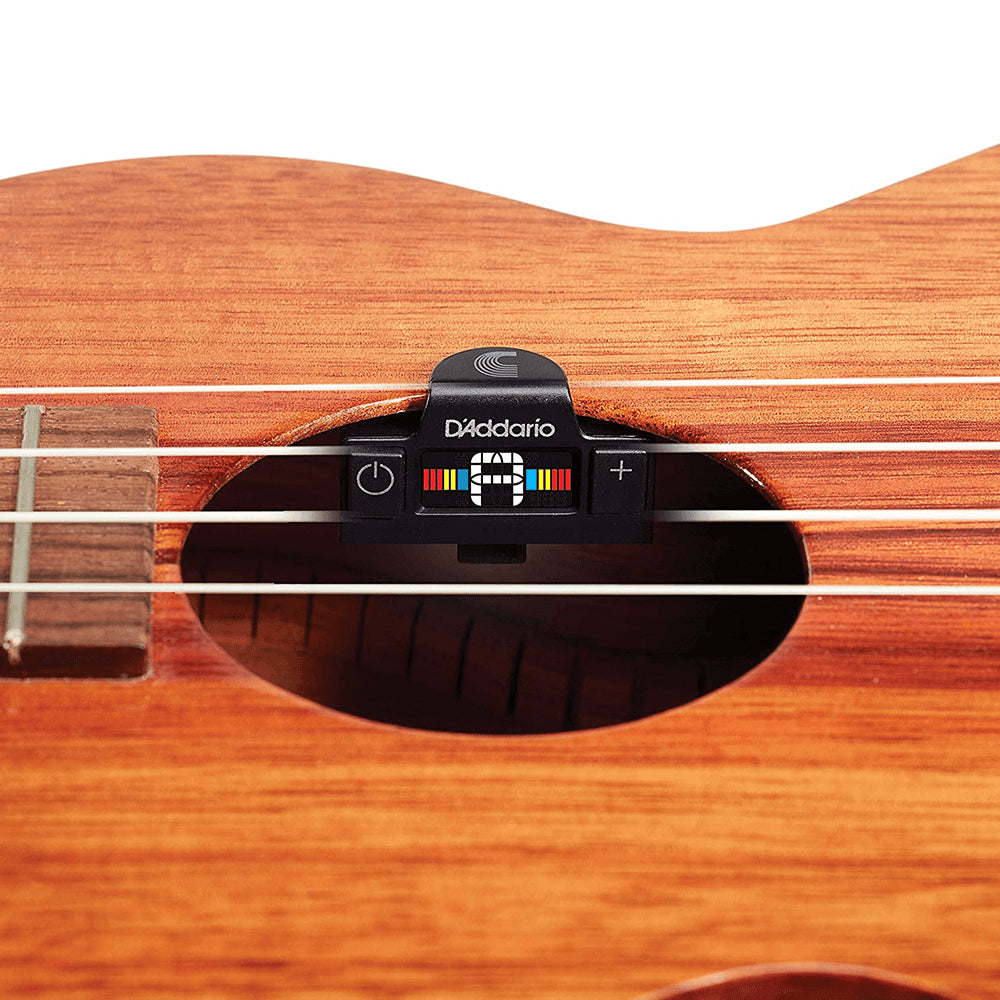 D'Addario UKULELE SOUNDHOLE TUNER with Discreet Acoustic Soundhole Clip