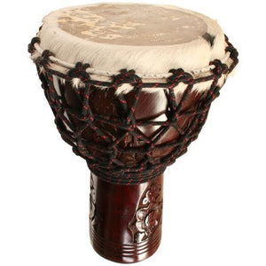 "Djembes & Ashikos Hardwood Djembe Rope Tension 10"" x 17"" Small"