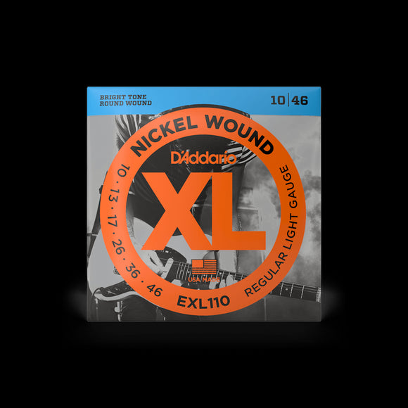 D'Addario Electric Guitar Nickel Wound, Regular Light Gauge, EXL110