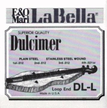 Dulcimers Dulcimer string set, plain steel, silver plated wound, loop ends