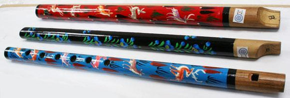 Flutes Painted Whistle (Designs may vary)