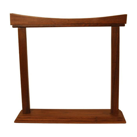 Gongs Gong Stand, Rosewood, Curved, 14 Inch