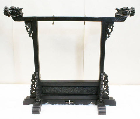 Gongs Small Gong Stand  (was gon094) - repaired crack at dragon head. works fine. very sturdy.