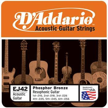 Guitars D'Addario Dobro / Resophonic String Set, Phosphorous Bronze .016