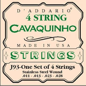 Guitars D'Addario Stainless Steel Cavaquinho String Set