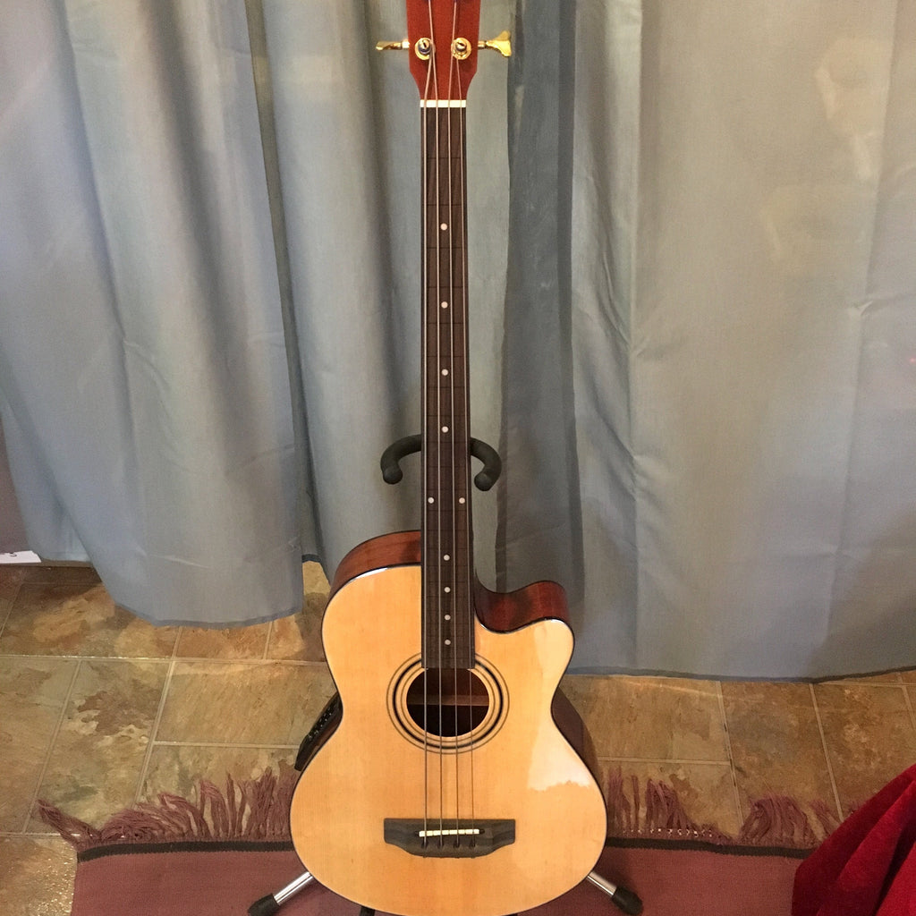 Guitars Fretless Acoustic Bass Guitar with Electronics