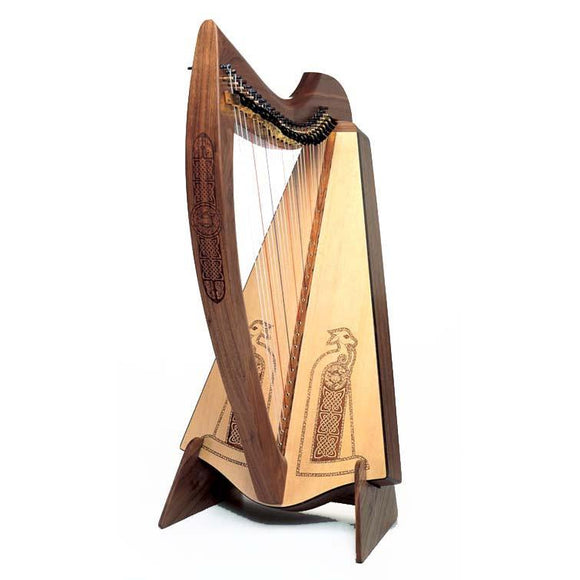Harps Avalon 25 Nylon String Harp In Walnut