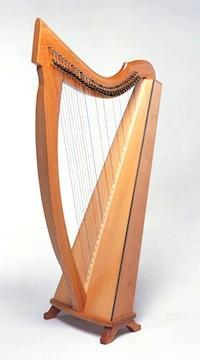 Harps Celtic Harp w/ levers and case, Triplett 34 strings