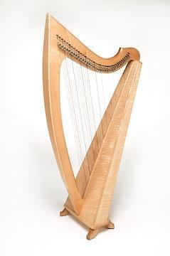 Harps Eclipse Harp w/ levers and case, Triplett, 38 strings