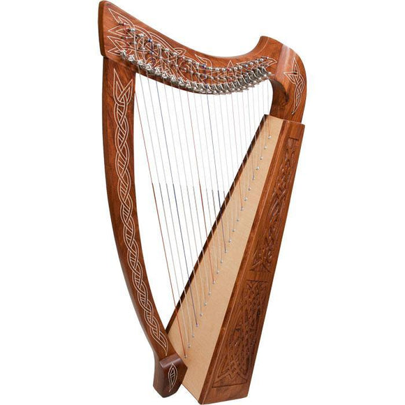 Harps Heather Harp TM, 22 Strings, Knotwork