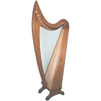 Harps Lorraine 29 String Walnut Harp Package Full Loveland Levers