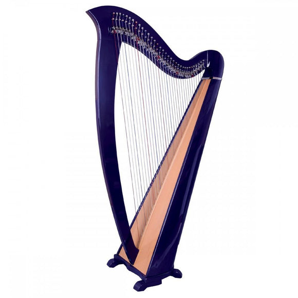 Harps Round Back Harp Purple 34 Strings