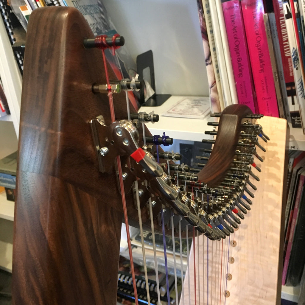 Harps Triplett Christina 26 Therapy Harp Walnut with Full Levers and Standing Bar