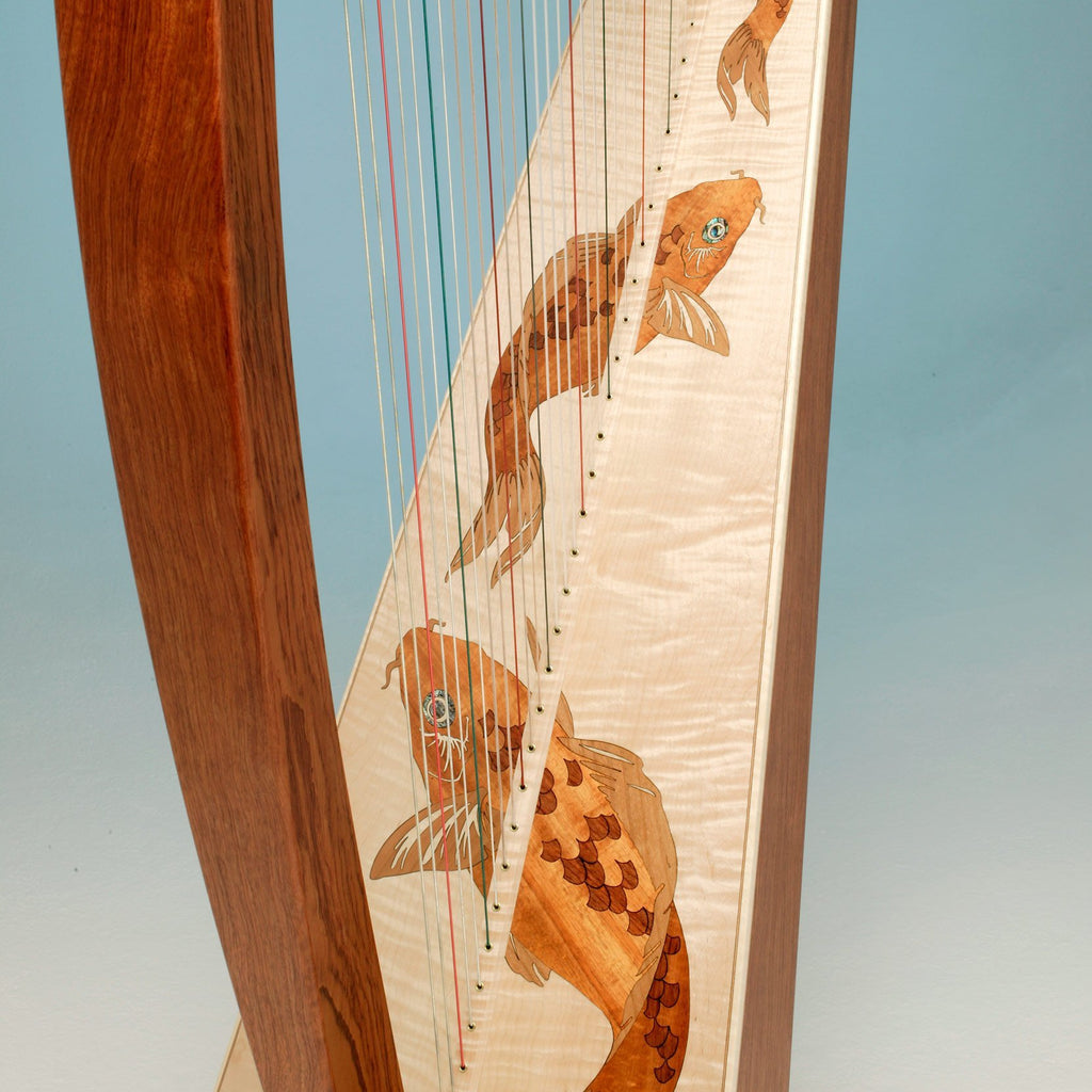 Harps Triplett Eclipse Harp w/ levers and case, 38 strings