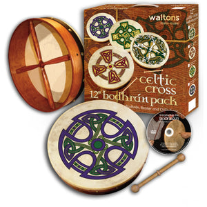 "12"" Waltons Fanore Cross Bodhran Pack"